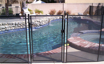 All-Safe® Basic Self-Closing Pool Fence Gate in Black